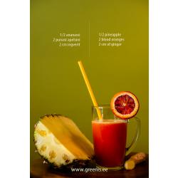 Ananass + veriapelsin + ingver